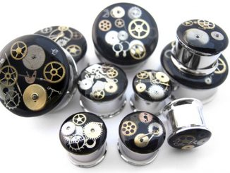 Urban Body Jewelry Stainless Steel Steampunk Plugs