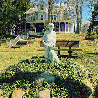 A Statue In Melrose Park, Outside Of One Of Lily Daleu0027s Guest Houses